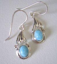 Ohrringe mit Larimar, 925er Silber - blau