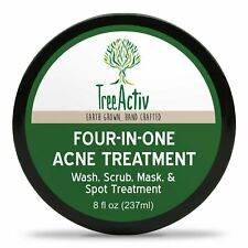 TreeActiv Four-in-One Acne Treatment, Wash, Scrub, Mask, and Spot Treatment 8 oz