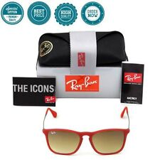 Authentic Ray Ban Chris RB4187 Red Frame 898/11 Light Brown 54mm Lens NEW