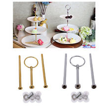 Zinc Alloy 3 Tier Cake Plate Stand Handle Rod Fittings Without Plates LI