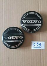 2x GENUINE VALVO 64mm alloy wheels CENTRE CAPS 30666913