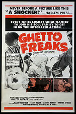 GHETTO FREAKS HIPPIE BLAXPLOITATION 1972 1-SHEET