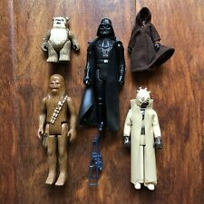 Vintage StarWars Figure Lot Of 5 Jawa, Darth Vader, Chewbacca, Wicket, Raider