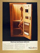 1968 Viking Solo Sauna woman in sauna photo vintage print Ad