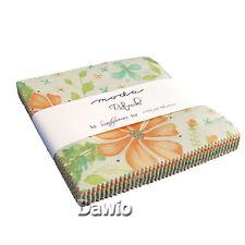 "Charm Pack ""Refresh"" Moda Pastellfarben Patchwork Stoff 42 Scraps à 12,7cm (5"")"