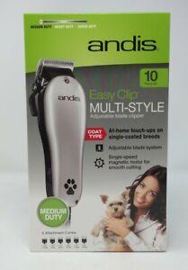 New Pet Grooming Andis EasyClip Medium Duty Multi-Style 10 piece kit, #6851