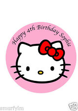 "Hello Kitty Birthday x1 Edible Cake Topper Icing Sheet 7.5""  20cm"
