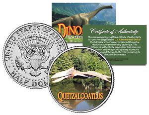 QUETZALCOATLUS * Collectible Dinosaur * JFK Half Dollar Colorized Coin PTEROSAUR