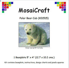 MosaiCraft Pixel Craft Mosaic Art Kit 'Polar Bear Cub' Pixelhobby