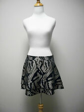 BEBE Taupe &  Black Animal Print Tiered Mini Skirt Size S