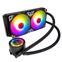 COOLMOON 240 Computer CPU Water Cooler RGB Liquid Cooling Radiator P5N3