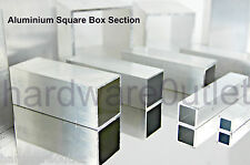 Aluminium SQUARE BOX Section Tube Pipe 10 Sizes available & 7 lengths available