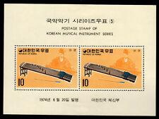 Korea - Mint Souvenir Sheets Scott #887a-888a (Musical Instruments)