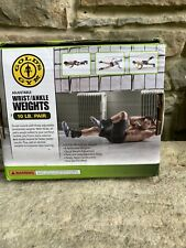 Golds Gym Ankle Weights 10lb NEW Wrist Weights 10 pounds