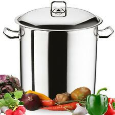 21ltr Gastro Large Stainless Induction Steel Stock Pot Casserole Stockpot