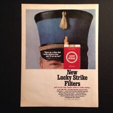 1965 Lucky Strike Cigarette Vintage Print Ad