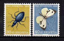 Schweiz  635 und 636  aus Pro Juventute 1956, 2 Werte postfrisch, siehe Bild