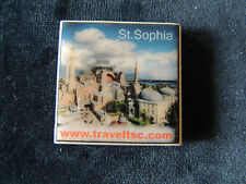 TOURIST SOUVENIR CERAMIC 1 3/4 SQ Fridge Magnet --- St. Sophia Istanbul, Turkey