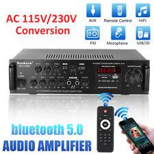 2000W HiFi Verstärker bluetooth 5 Kanäle Stereo Power Amplifier FM Radio MP3 DVD
