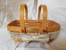 New ListingLongaberger 2000 Woven Memories Basket with plastic liner
