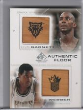 2001-02 SP AUTHENTIC #C11 KEVIN GARNETT & CHRIS WEBBER DUAL FLOOR RELIC 5208