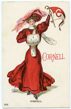 """College Girl Christy """"Cornell"""" University Pre-1907 Ithaca NY"""