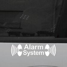 2 Stück Alarm System weiß 8cm Aufkleber Tattoo die cut Folie für Außenseite