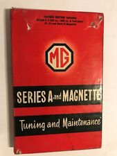 MG Series A & Magnette Tuning & Maintenance BMC A-SERIES ENGINE MANUAL TC ZA ZB
