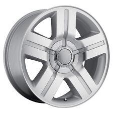 "4) 24"" Texas Special Rims Set Chevy GM 1500 Silverado Machined Silver Wheels"