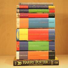 Harry Potter Complete 1-7 Hardback Book Set & Extras JK Rowling - Bundle - VGC
