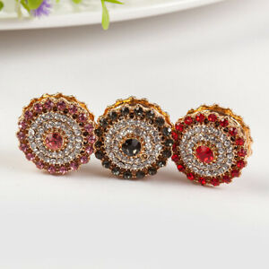 6 x Pinless Magnetic Pins for Scarves    Magnet Button / Brooch [Flower K-2]