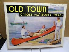 """Vintage Old Town Canoe Paddle vinyl decal outboard boat 3.5/"""" wide"""
