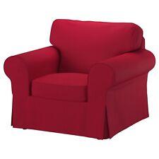 Ikea EKTORP COVER SLIPCOVER FOR CHAIR ARMCHAIR NORDVALLA RED