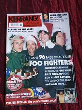 KERRANG  - MUSIC MAG -FOO FIGHTERS- 21/28 DEC 2002