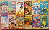 A Lot Of 12 Kid's And Family Cartoons  On VHS