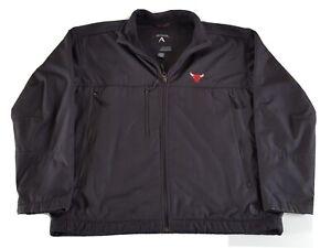 Chicago Bulls Mens Large Full Zip Soft Shell Jacket Water Restistant Mesh Lined