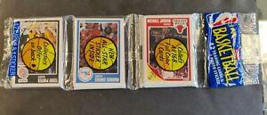 1989 Fleer Basketball Rack Pack JORDAN Front-Barkley Sticker Olajuwon Back