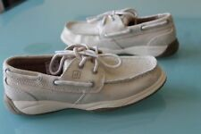 NEW SPERRY GIRLS sz 2.5 Y INTREPID BOAT SHOES METALLIC FLAT MOC GOLD LEATHER