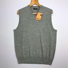 BNWT Farah Light Grey Wool Blend Vest Tank Top Sleeveless Sweater Jumper size M