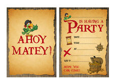 'Pirate' Party Invitations - Old Pirate Map design - 24 x A6 postcard size card