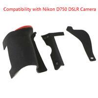 For Nikon D750 3PCS Thumb/Side/Grip Rubber Set Repair Parts Replacement+Adhesive