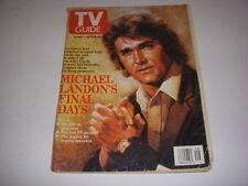 TV GUIDE, JULY 20-26, 1991, MICHAEL LANDON'S FINAL DAYS, PRINCESS DIANA WEDDING!