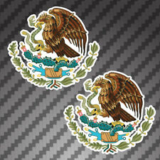 2x Mexican Coat of Arms Sticker vinyl flag Die Cut Decals graphic MX Mexico