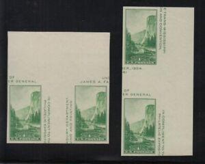 1935 Yosemite Sc 769 Parks FARLEY horizontal & vertical gutter pairs NGAI