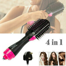 4 in 1 Electric Hair Straightener Brush Blow Dryer Curler Comb Styler Hot Air