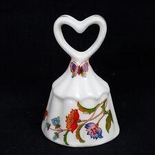 Vintage Ardalt Bone China Artware Korea bBell Heart Handle, Butterfly, Flowers