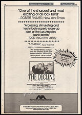 THE DECLINE OF WESTERN CIVILIZATION__Original 1982 Trade AD_poster__CIRCLE JERKS