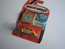 NEW SEALED Matchbox Bettle Taxi #41 Volkswagen Treasure inside 2004 match box