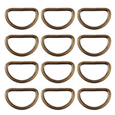 25x D-Ringe Halbringe 16mm Bronze für Gürtel Zubehör Gurtband Gurtband