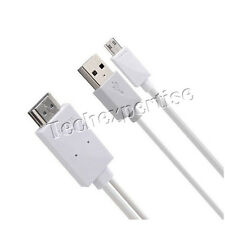 MHL 11 Pin Micro USB to HDMI Cable Adapter for Samsung Galaxy S4 S3 Note 2 3 4